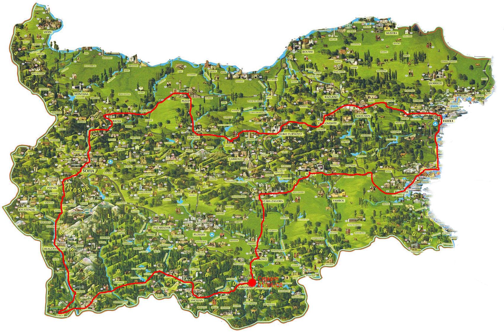 Gotina Karta Na Blgariya
