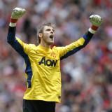 Manchester United's Spanish Goalkeeper D