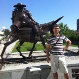 Пред музея на хумора и сатирата - Габрово