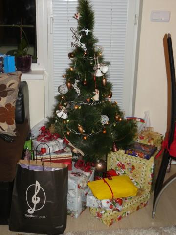 преди отварянето на подаръците :)