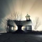 Изоставени църква в снега, Канада