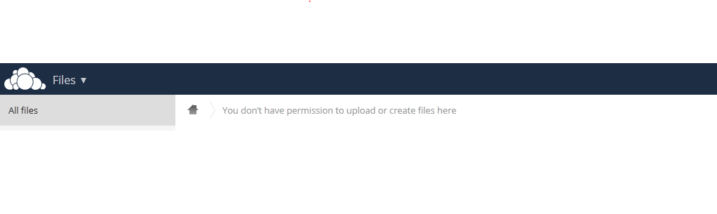 owncloud you don't have permission to upload or create files here