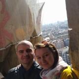 Селфи от едната кула на Sagrada Familia