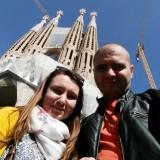 Селфи пред Sagrada Familia