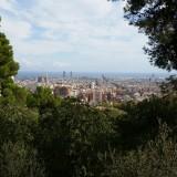 Изглед към Барселона от парк Гюел