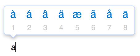Изключване на специални символи при mac