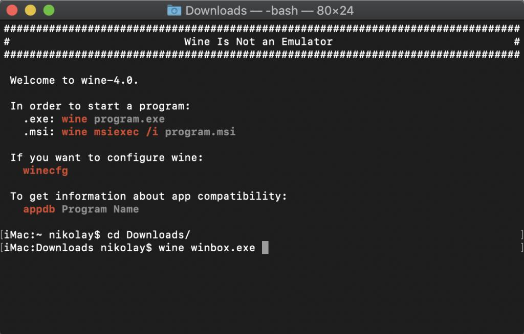 Mikrotik Winbox за MacOS